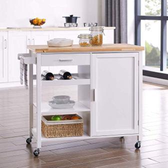 BELLEZE Rolling Kitchen Buffet Cart