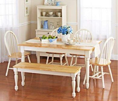 Better Homes Country Style Dining Table with a Table and Six Pieces Of Chairs