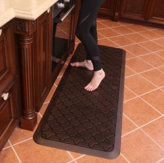 Butterfly Long Kitchen Anti Fatigue Mat (Waterproof, 24 x 70 inches, Dark Antique)