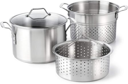 Calphalon Classic Stainless Steel Steamer and Pasta Insert