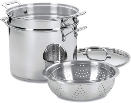 Cuisinart 77-412 Chef's Classic Stainless Pasta/Steamer Set