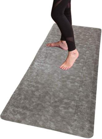 HEBE Oversized Anti Fatigue Comfort Mats for Kitchen Floor (20″x60″, Brown)