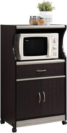 Hodedah Microwave Cart