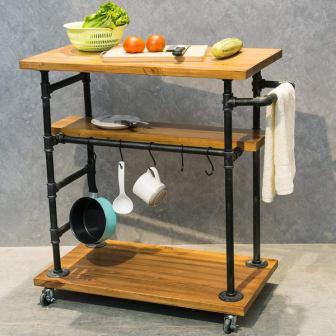 MBQQ Industrial Portable Kitchen Island