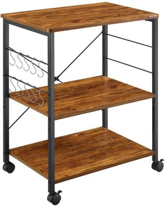 Mr IRONSTONE 3-Tier Utility Microwave Cart