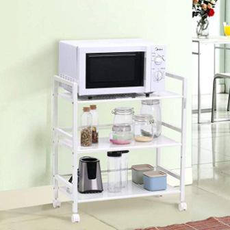 SSLine 3-Shelf Rolling Kitchen Storage Cart