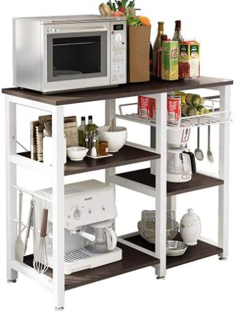 Soges Furniture Utility Shelf Microwave Stand with Storage