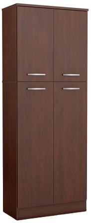 South Shore Royal Cherry 4-Door Storage Pantry