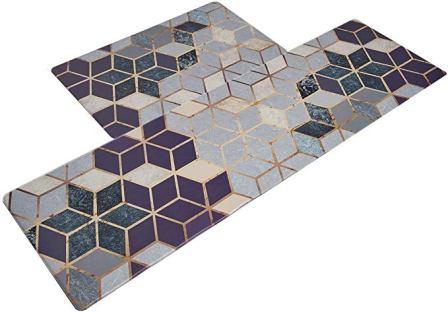 U'Artlines Anti Fatigue Kitchen Floor Mat Set of 2, Comfort Heavy Duty Standing Mats