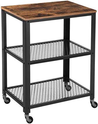VASAGLE Industrial Serving Kitchen Utility Cart
