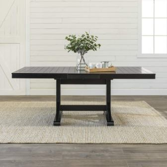 Walker Edison Antique Wood Extendable Dining Table