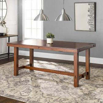 Walker Edison Distressed Extendable Table