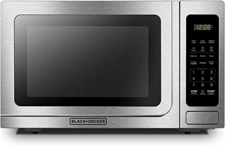 Black+Decker EM036AB14 Professional Style Stainless Steel Microwave