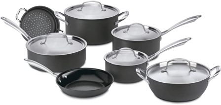 Cuisinart 12-Piece Green Gourmet Hard Anodized Nonstick Cookware Set (GG-12)