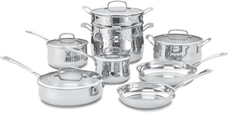 Cuisinart 13-Piece Contour Stainless Cookware Set (44-13)