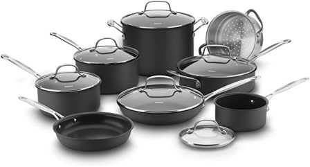 Cuisinart 14-Piece Chef's Classic Nonstick Hard Anodized Cookware Set (66-14)