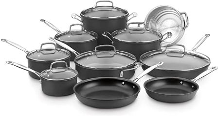 Cuisinart 17-Piece Chef's Classic Nonstick Hard Anodized Set (66-17N)