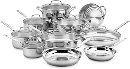 Cuisinart Chef's Classic Stainless 14-Piece Cookware Set (77-14N)