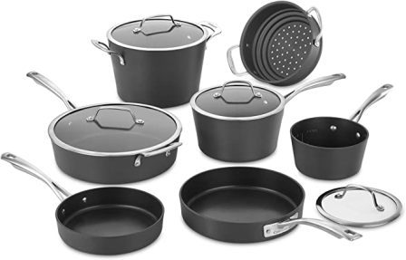 Cuisinart Conical Hard Anodized 11-Piece Cookware Set (62I-11)