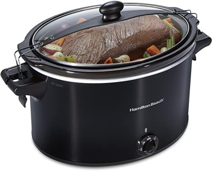 EXTRA-LARGE STAY OR GO® SLOW COOKER WITH LID LOCK BY HAMILTON BEACH
