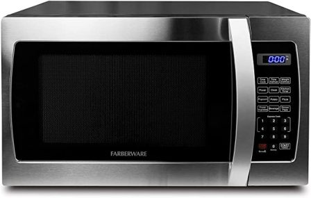 Farberware FMO13AHTBKE Professional Compact 1000W Microwave for Small Spaces