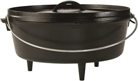 Lodge 17L12CO3 Cast Iron Camp Dutch Oven