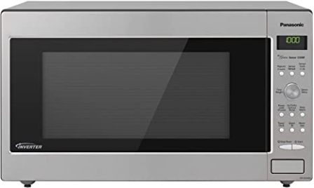 Panasonic NN-SD945S Silver/Stainless Steel Microwave with Compact Design and Greater Interior Capacity