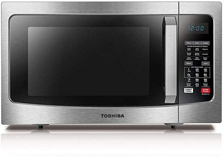 Toshiba EC042A5C-SS Stylish Stainless Steel Microwave with Convection Cooking and Auto Bake/Auto Roast Modes