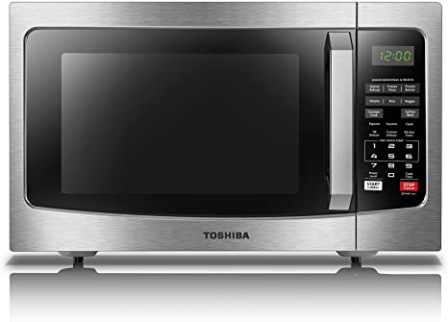 Toshiba EM131A5C-SS Stainless Steel Microwave with Power Saving Eco Mode & Sensor Cook 1100 W Output