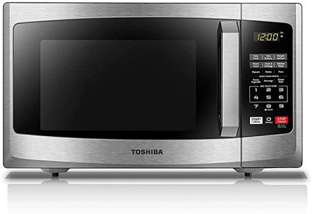 Toshiba EM925A5A-SS Renewed Stainless Steel Microwave for Quick and Easy Food Preparation