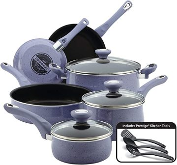 12-piece Lavender speckle nonstick pots and pans