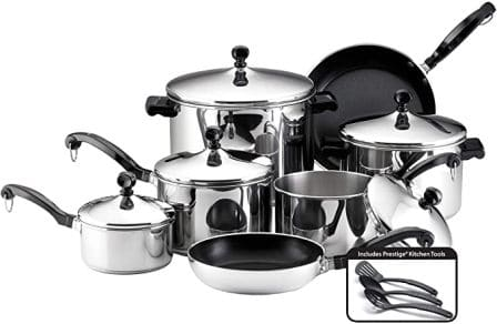 50049 Classic 15-piece stainless steel cookware