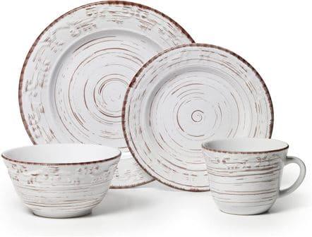 5217179 Trellis White 16-Piece Dinnerware Set by Pfaltzgraff