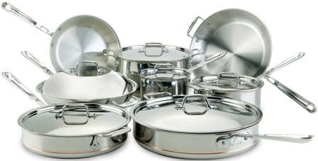 All-Clad 60090 Copper Core 5-Ply Cookware Set