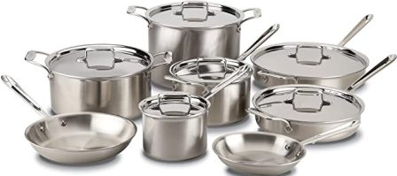 All-Clad BD005714 D5 Brushed Stainless Steel Cookware Set