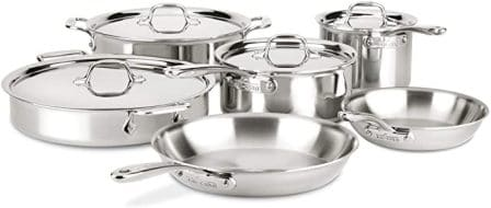 All-Clad ST40010 D3 Compact Stainless-Steel Cookware Set