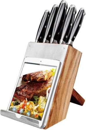 BILL.F 18-Pieces Kitchen Knife Set with Wooden Block