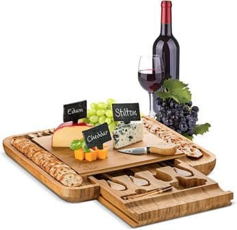 Bambusi Cheese Board and with Cutlery
