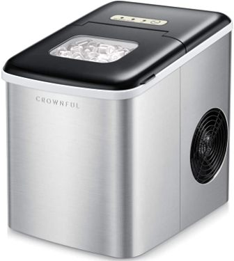 CROWNFUL Stylish & Compact Quiet & Efficient Bullet Ice Maker