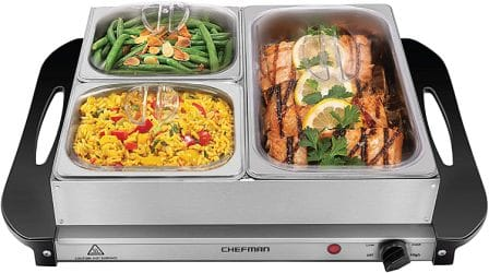 Chefman Electric Buffet Server + Warming Tray