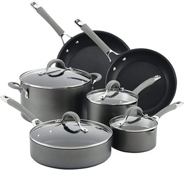 Circulon Elementum Hard Anodized Nonstick Cookware Pots and Pans Set