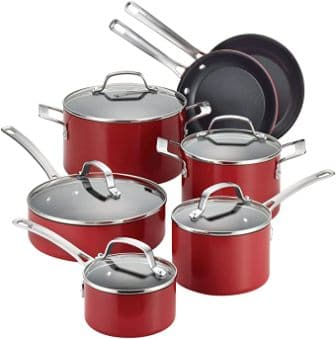 Circulon Genesis Nonstick Cookware Pots and Pans 12 Piece Set