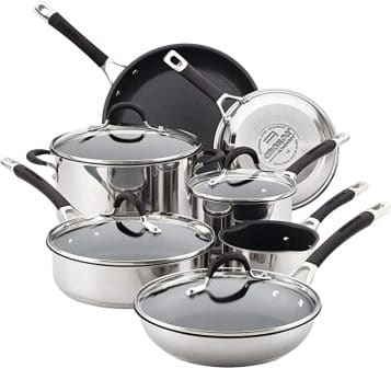 Circulon Momentum Stainless Steel Nonstick 11-Piece Pots and Pans