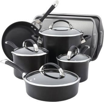 Circulon Symmetry Hard Anodized Nonstick Cookware Pots and Pans Set