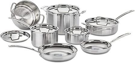 Cuisinart MultiClad Pro MCP-12N 12-Piece Cookware Set