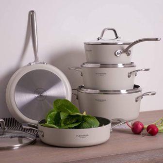 Fleischer & Wolf White Pots and Pans Sets