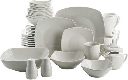 Gibson White Home Zen 39-Piece Buffetware Dinnerware Set