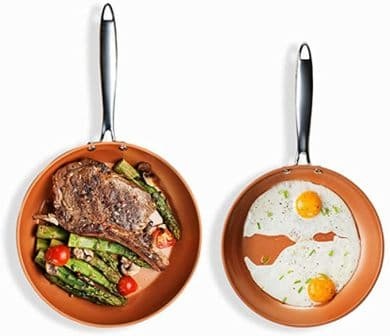 Gotham Steel Hard Anodized Fry Pan and Skillet Set