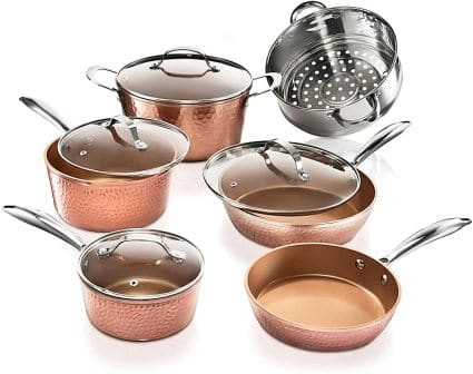 Gotham Steel Premium Hammered Ceramic Cookware