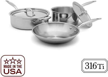 Heritage Steel 5-Piece Essentials Cookware Set (Top-pick product)